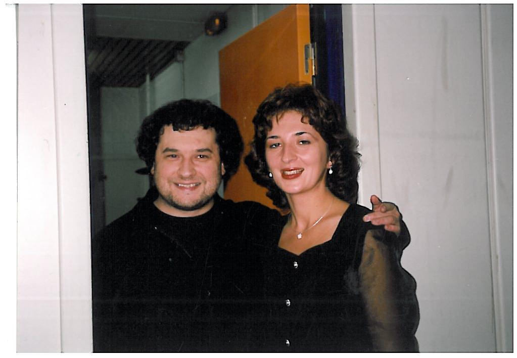 Paul with future wife Mia Sfura, 2000