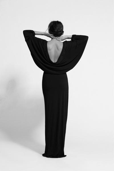 tumblr black dress