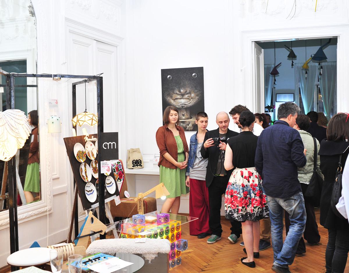 Party si expozitie pop up seara decernarii Best Design Made in RO