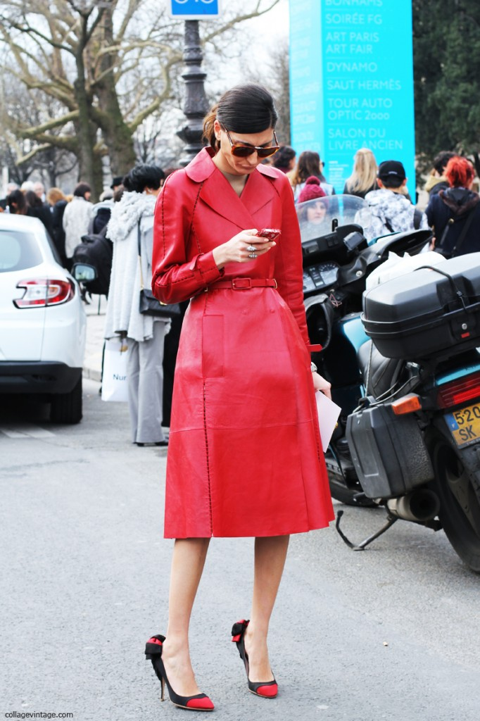 Giovanna_Battaglia-Red_Leather_Coat_Valentino-Chanel_Fashion_Show_Fall_2013-Street_Style-Paris_F