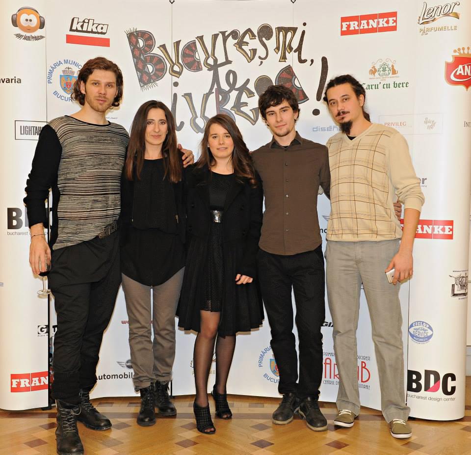 La avanpremiera scurt-metrajului București, te iubesc! cu actorii Filip Ristovski, Kira Hagi, Rareș Andrici și producătorul Liviu Lupșa.