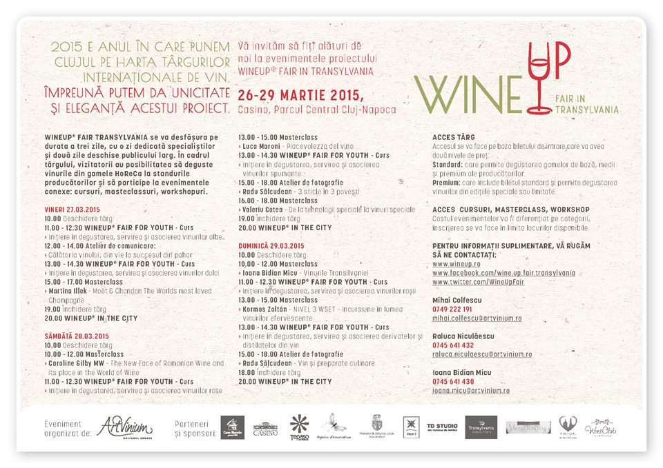 calendar evenimente wineup