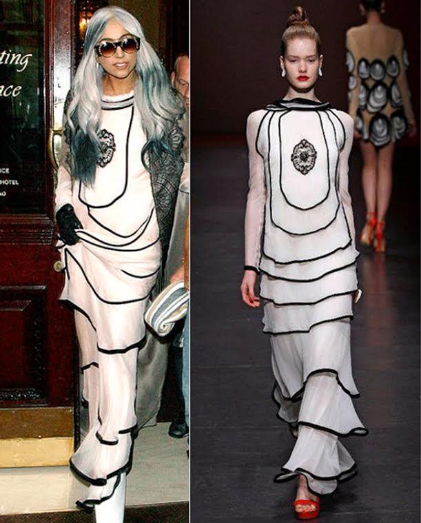 Lady Gaga in rochia Ingrid Vlasov - Sursa Perfecte.ro