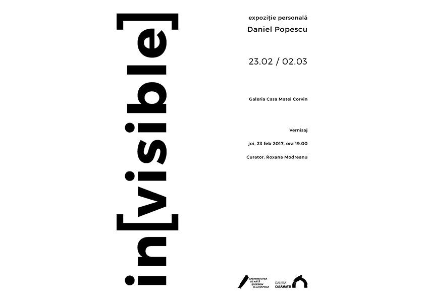 Expoziţia in[visible] semnată de Daniel Popescu